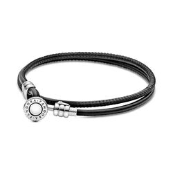 Moments Double Leather Bracelets