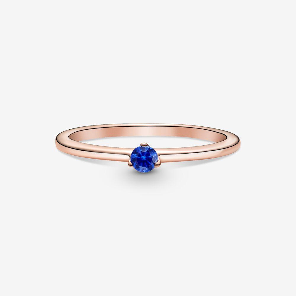 Stellar Blue Solitaire Ring | Pandora SG
