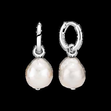 Freshwater Cultured Baroque Pearl Hoop Earrings
