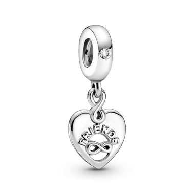 Friends Forever Heart Dangle Charm