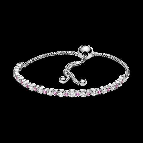 Pink & Clear Sparkle Slider Bracelet