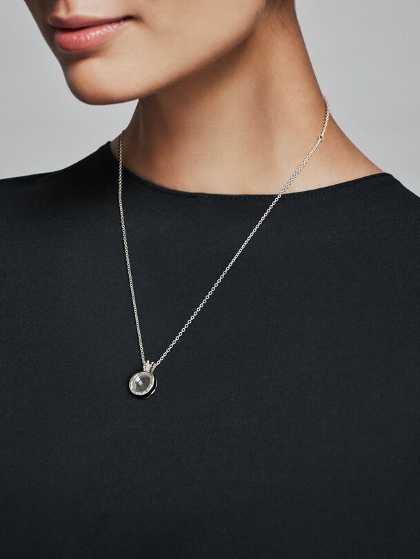 Pandora Lockets Crown O Necklace