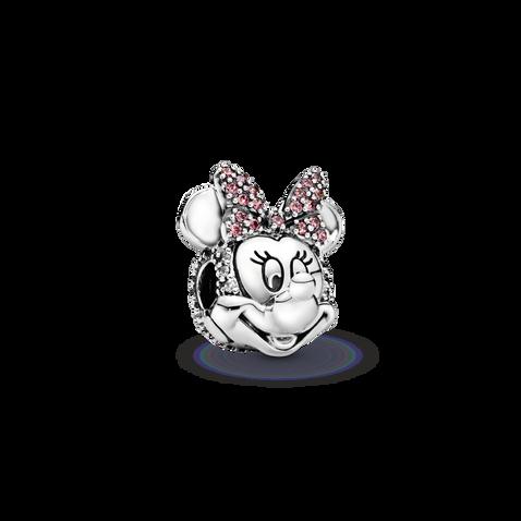 Disney Minnie Mouse Pink Pavé Bow Clip Charm