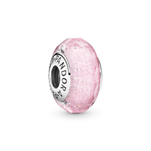 Faceted Pink Murano Glass Charm