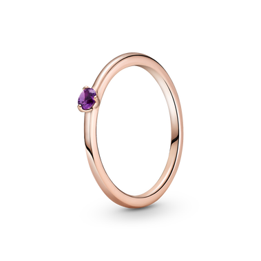 Purple Solitaire Ring