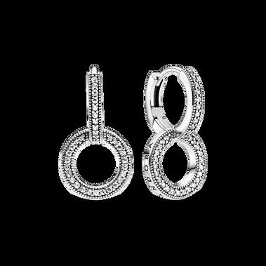 Sparkling Double Hoop Earrings
