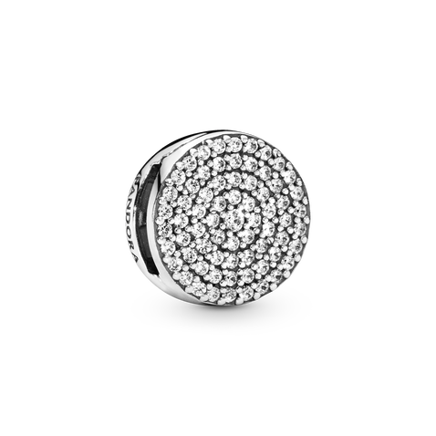 Round Pavé Clip Charm