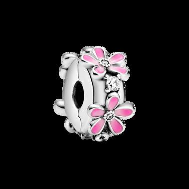 Pink Daisy Flower Clip Charm