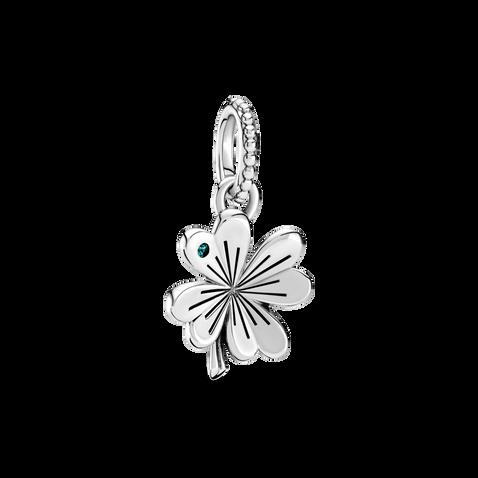 Lucky Four-Leaf Clover Dangle Charm