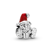 Seated Santa Claus & Present Charm