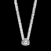 Round Sparkle Halo Necklace