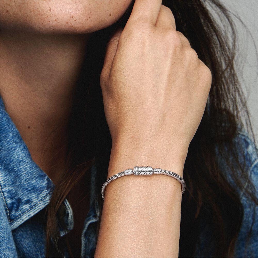 Pandora Moments Sliding Magnetic Clasp Snake Chain Bracelet ...