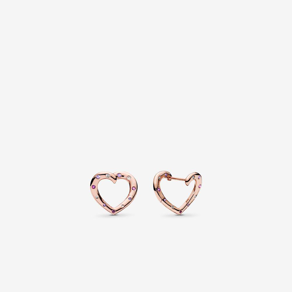 Pandora Rose Bright Hearts Hoop Earrings Pandora Sg