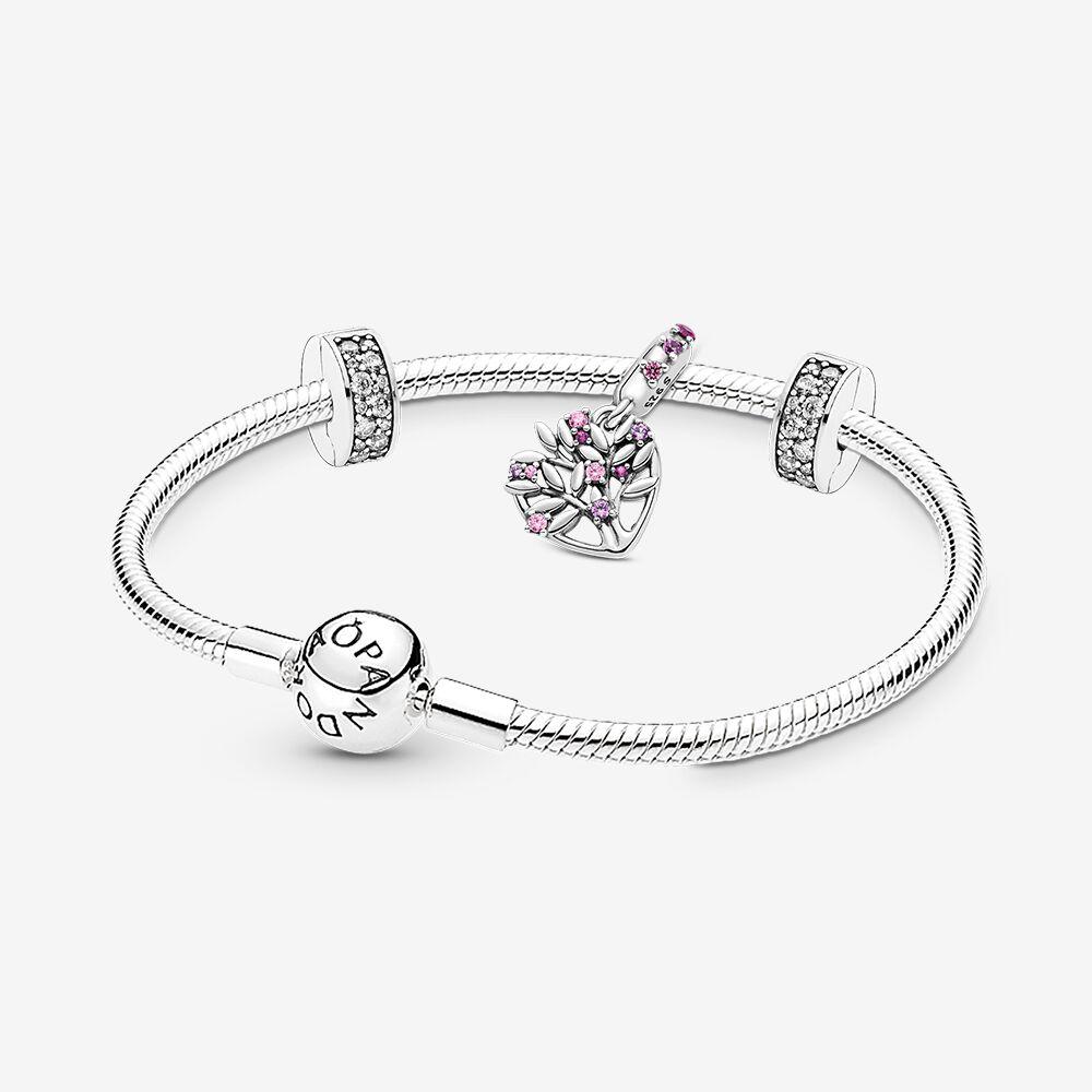 Family Tree Silver Bracelet & Charm Gift Set | Pandora eSTORE ...