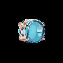 Blue Oval Cabochon Charm