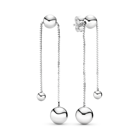 String of Beads Dangle Earrings