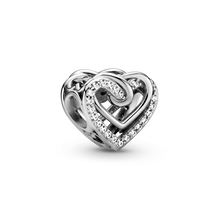 Sparkling Entwined Hearts Charm