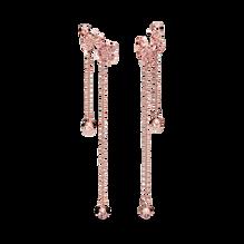 Pink Peach Blossom Flower Dangle Earrings