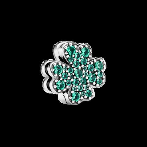 Pavé Four-Leaf Clover Clip Charm