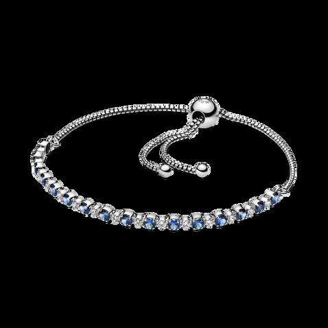 Blue and Clear SparkleSlider Bracelet
