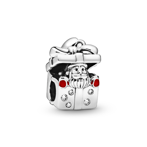 Santa in a Giftbox Charm