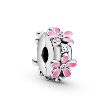Pink Daisy Flower Clip Charm