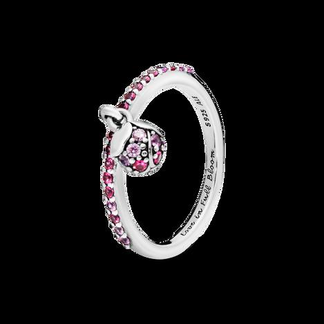 Pink Peach Blossom Flower Bud Ring