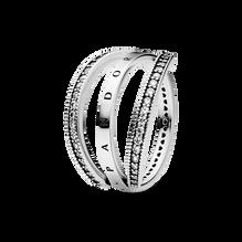 Pandora Logo & Hearts Ring