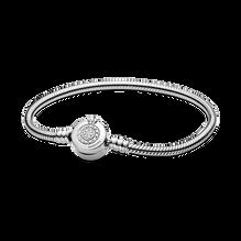 Pandora Moments Sparkling Crown O Snake Chain Bracelet