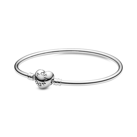 Pandora Moments Heart Clasp Bangle