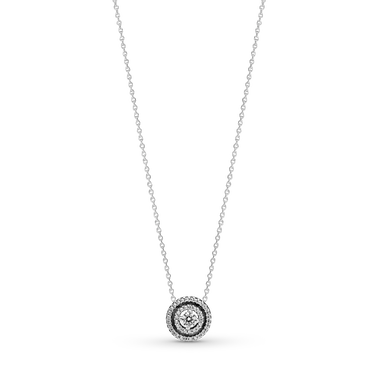 Sparkling Double Halo Collier Necklace