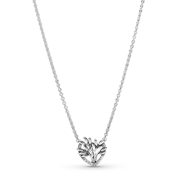 Heart Family Tree Collier Necklace