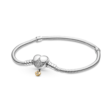 Disney Princess Pandora Moments Heart Snake Chain Bracelet
