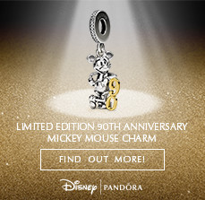 PANDORA DISNEY MICKEY MOUSE 90TH ANNIVERSARY. FIND OUT MORE!