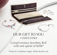PANDORA Complimentary Jewellery Roll GWP. SHOP NEW COLLECTION NOW!