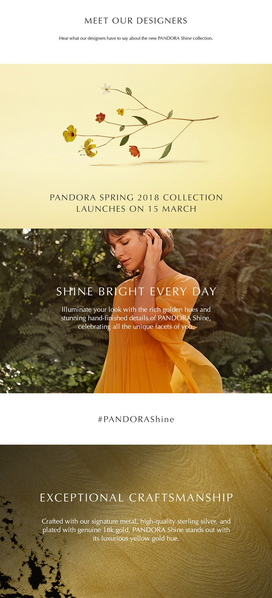 PANDORA SPRING 2018 COLLECTION